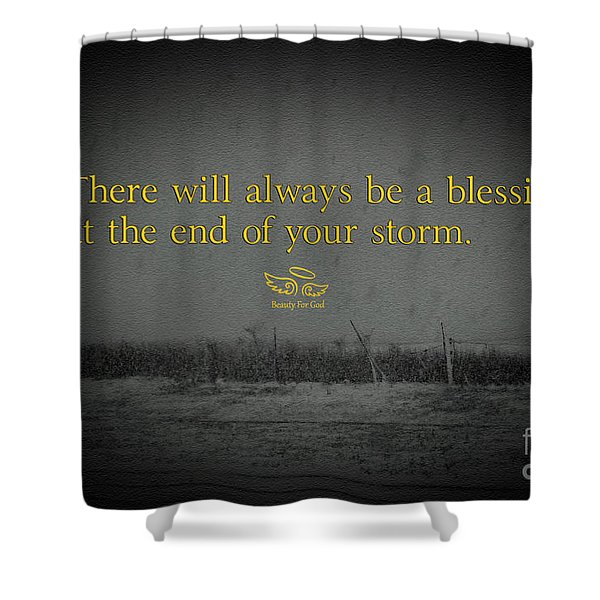 Storm Blessings Shower Curtain