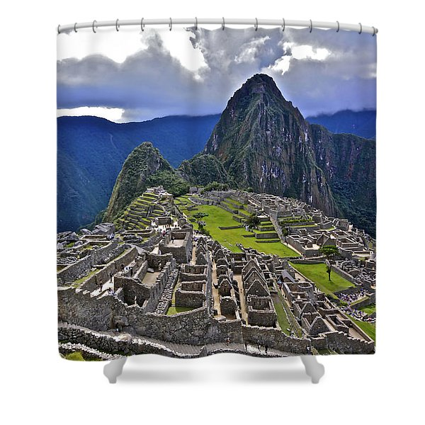 Storm Inbound To Machu Picchu Shower Curtain