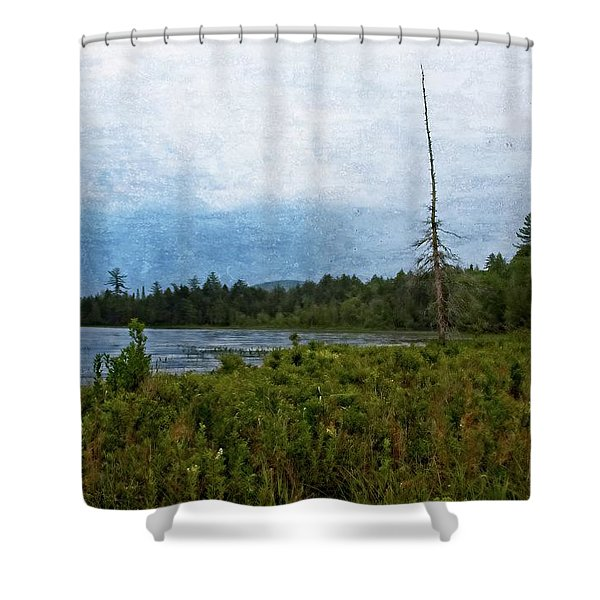 Storm On Raquette Lake Shower Curtain