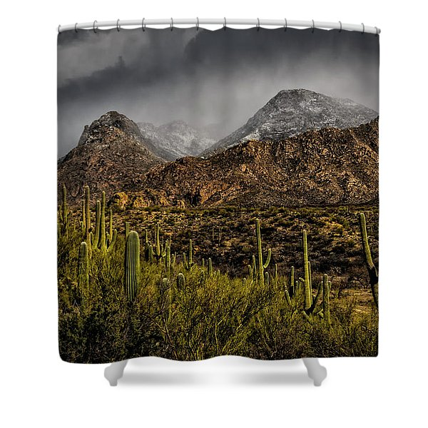Storm Over Catalinas 15 Shower Curtain