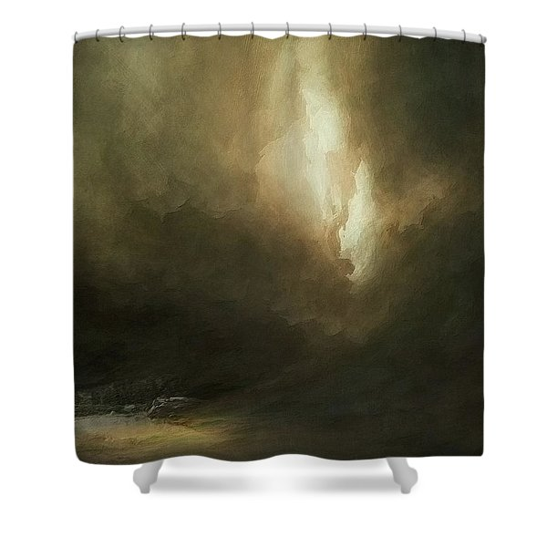 Storm Over Lake Shower Curtain