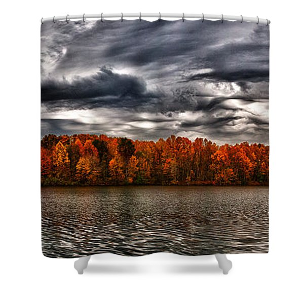 Storm Over Lake Nimisila Shower Curtain