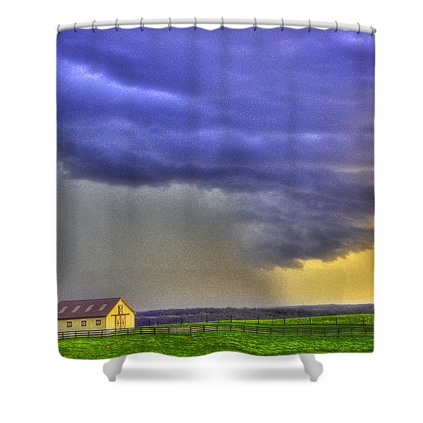 Storm Over River Shower Curtain