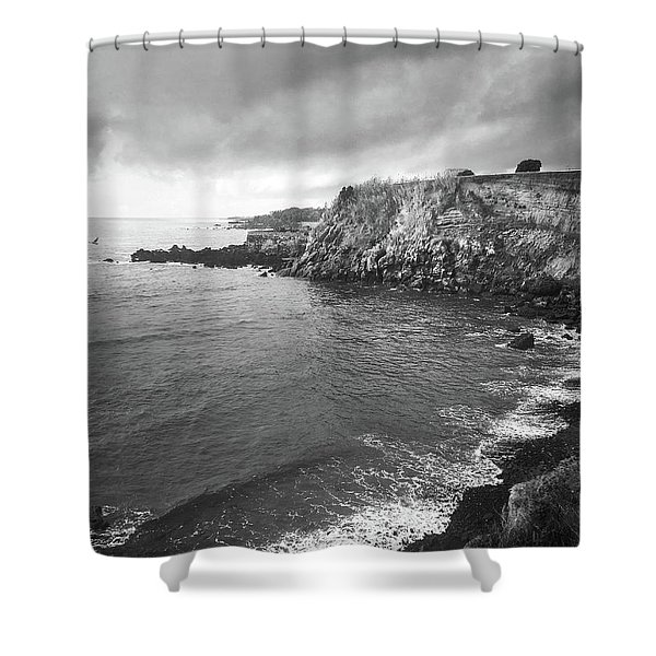 Storm Over The Eastern Shoreline Of Angra Do Heroismo Terceira Shower Curtain