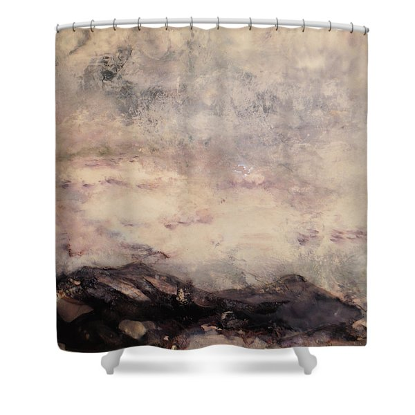 Storm Over The Mountains Shower Curtain