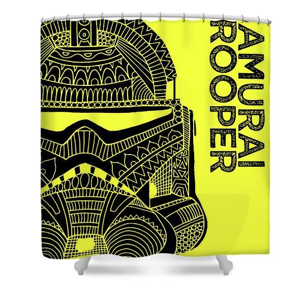 Stormtrooper Helmet - Yellow - Star Wars Art Shower Curtain