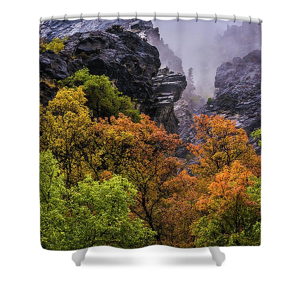 Stormy American Fork Canyon - Wasatch - Utah Shower Curtain