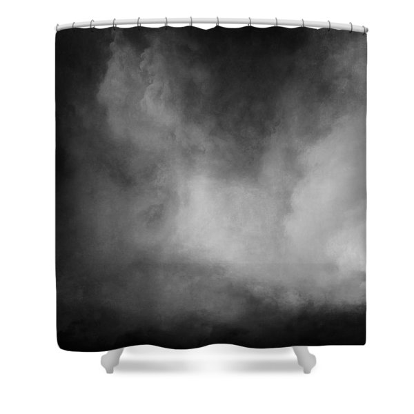 Stormy Blackness Shower Curtain
