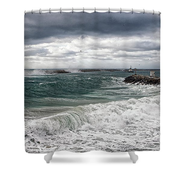 Stormy Day On Redondo Shower Curtain