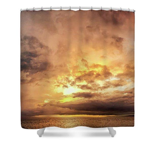Stormy Ka'anapali Sunset Shower Curtain
