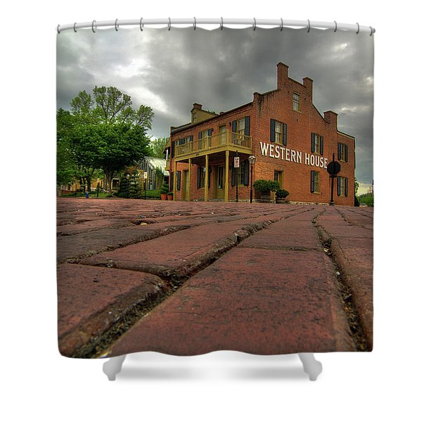 Stormy Morning On Main Street Shower Curtain