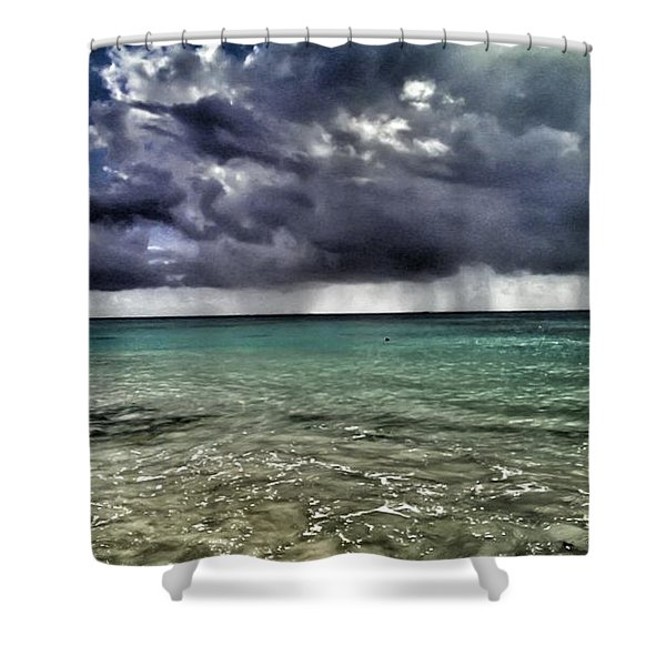 Stormy Paradise Shower Curtain