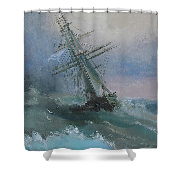Stormy Sails Shower Curtain