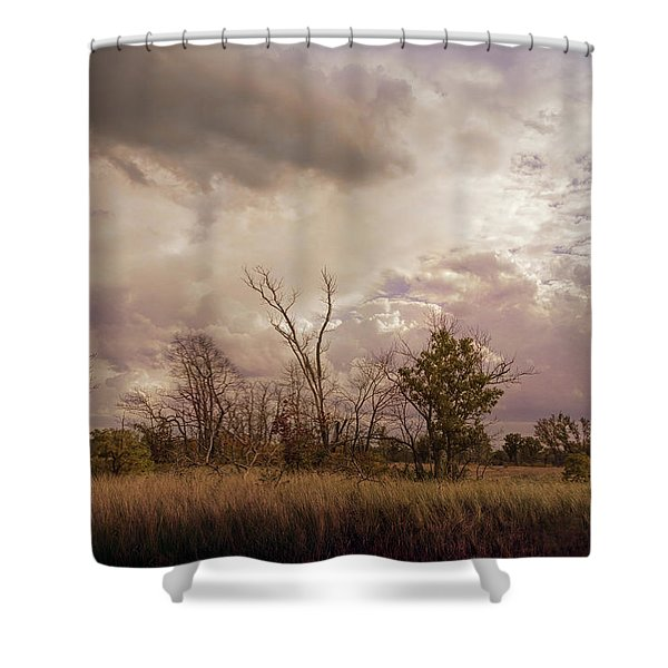 Stormy Skies Over Indiana Dunes Shower Curtain