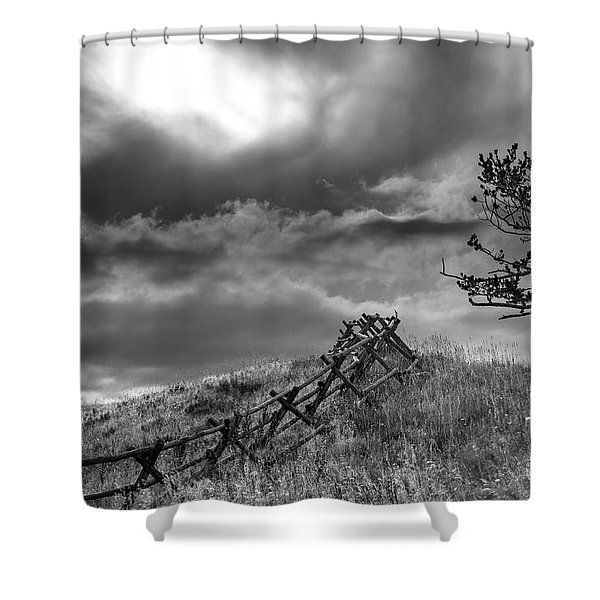 Stormy Sky At The Ranch Shower Curtain