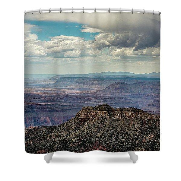 Stormy Sky Past Bridgers Knoll Shower Curtain