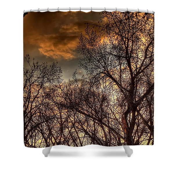 Stormy Sunset 14151 Shower Curtain