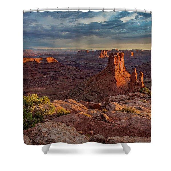 Stormy Sunset - Marlboro Point Shower Curtain