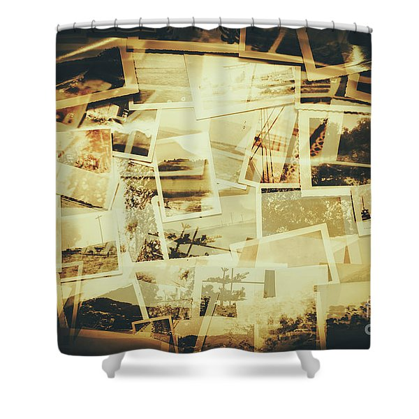 Storyboard Of Past Memories Shower Curtain