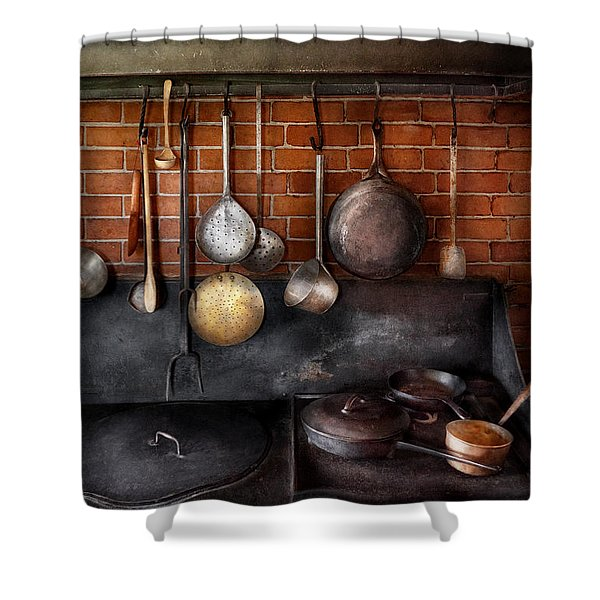 Stove - The Gourmet Chef Shower Curtain by Mike Savad