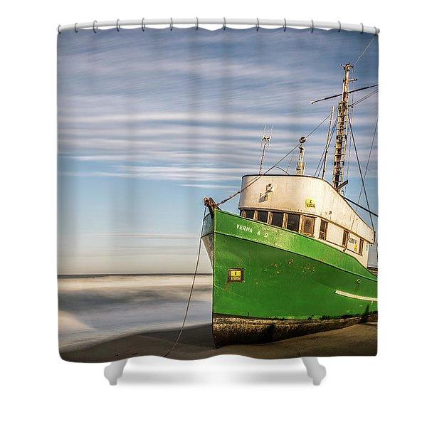 Stranded On The Beach Shower Curtain