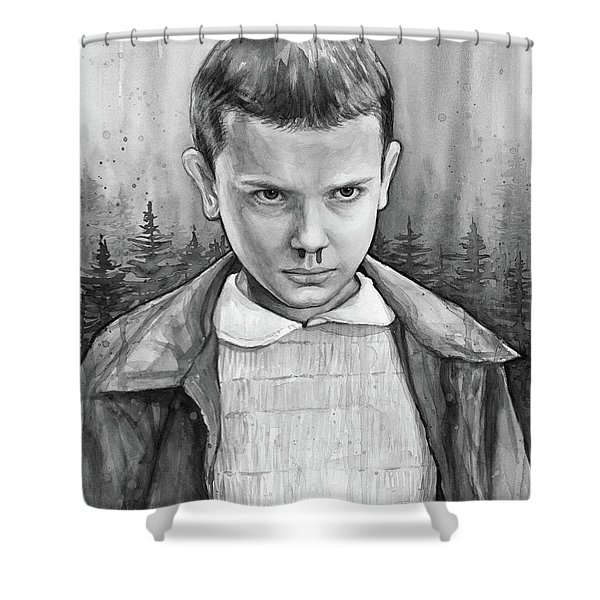 Stranger Things Fan Art Eleven Shower Curtain