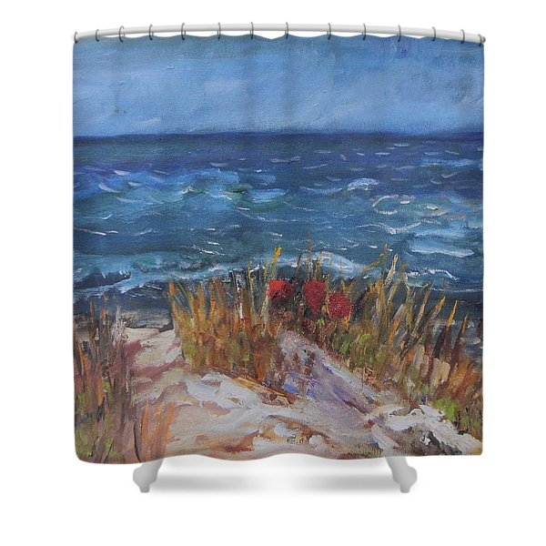 Strangers On The Shore Shower Curtain