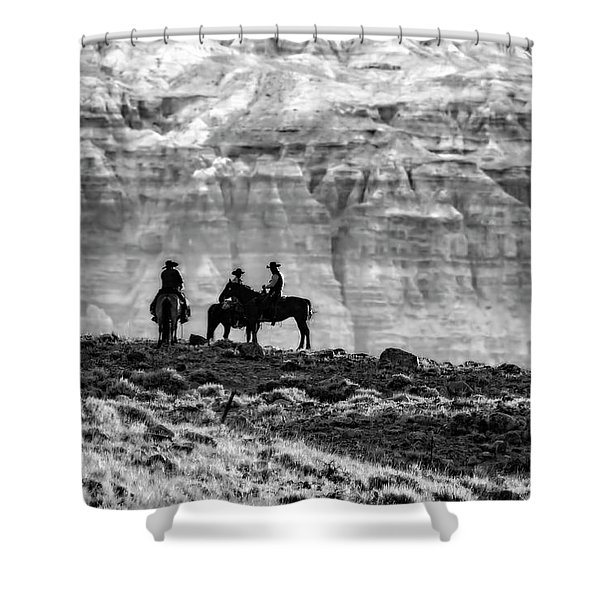 Strategy Meeting In Black And White Shower Curtain