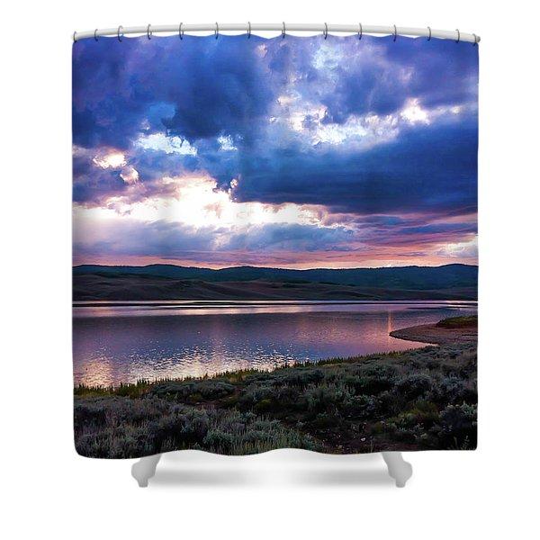 Strawberry Sunset Shower Curtain