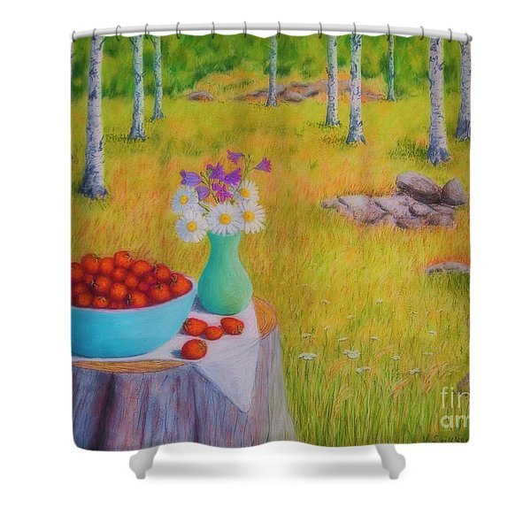 Strawberry Time Shower Curtain