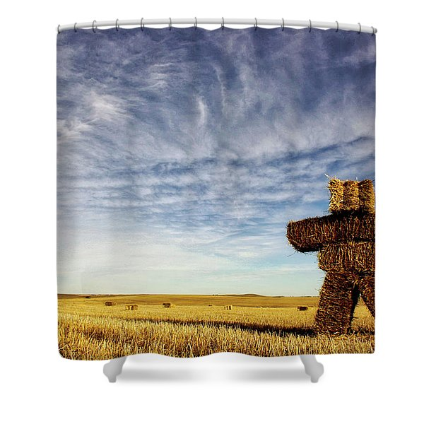 Strawman On The Prairies Shower Curtain