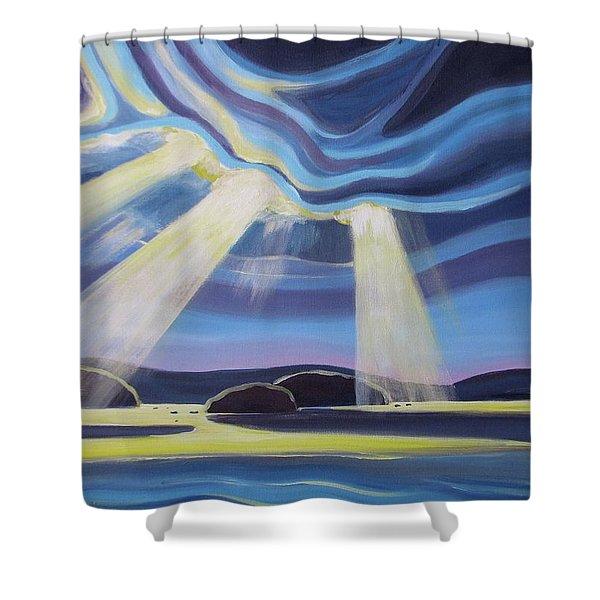 Streaming Light  Shower Curtain