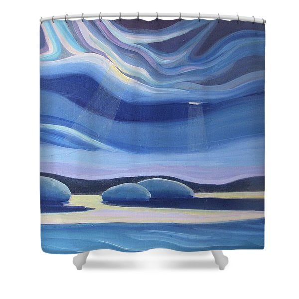 Streaming Light II Shower Curtain