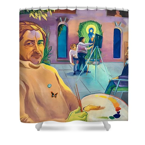 Street Artist Eric Fisherman's Wharf Shower Curtain