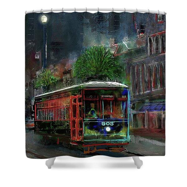 Street Car 905 Shower Curtain