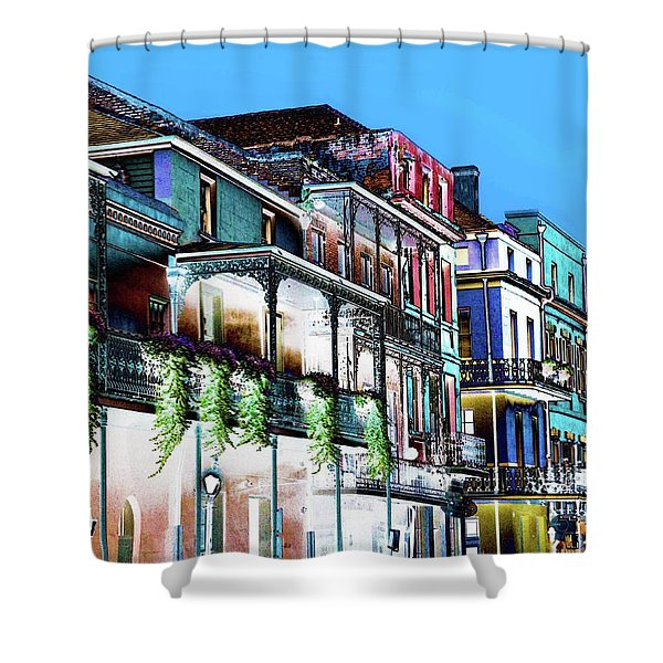 Street In New Orleans Shower Curtain