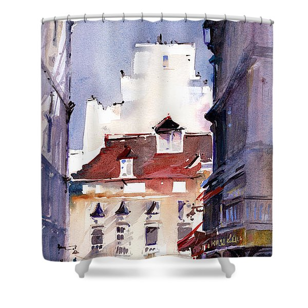Parisian Stroll Shower Curtain