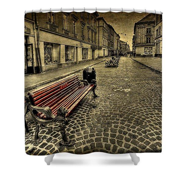 Street Seat Shower Curtain