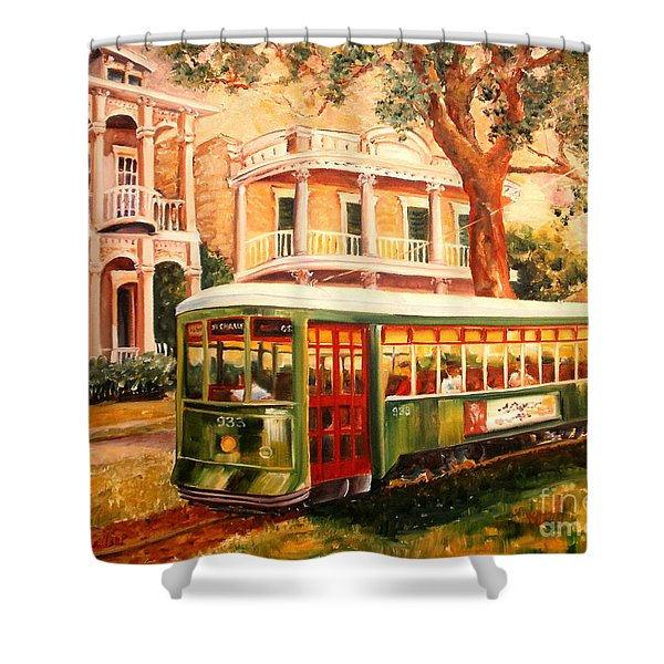 Streetcar In The Garden District Shower Curtain