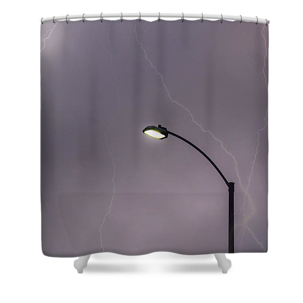 Streetlight Shower Curtain