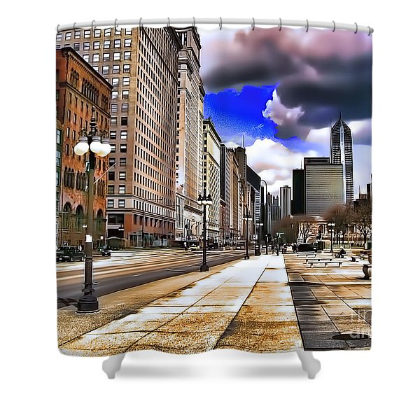 Streets Of Chicago Shower Curtain