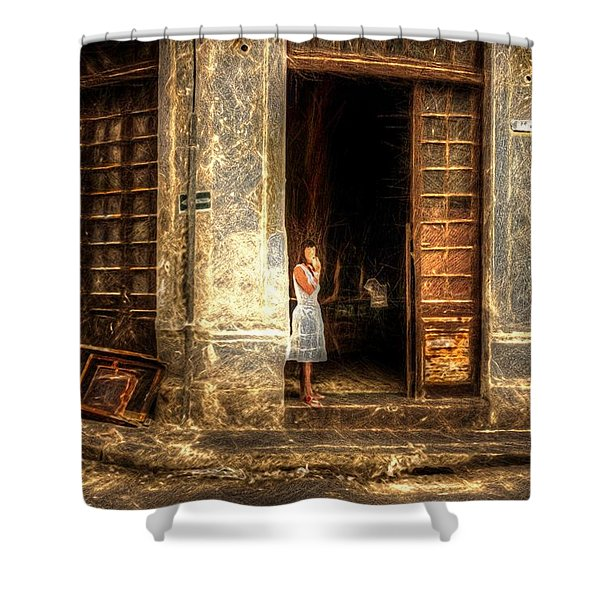 Streets Of Cuba Shower Curtain