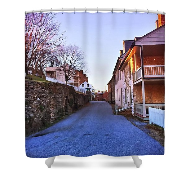 Streets Of Harpers Ferry Shower Curtain