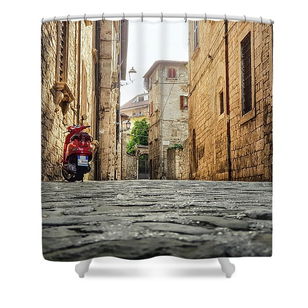 Streets Of Italy Shower Curtain