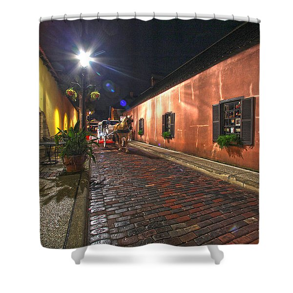 Streets Of St Augustine Shower Curtain