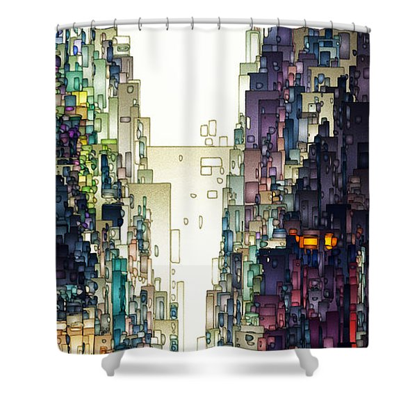 Streetscape 1 Shower Curtain