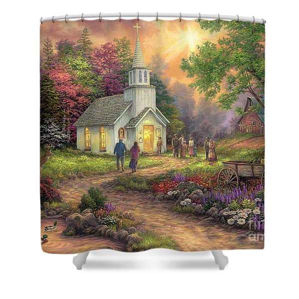 Strength Along The Journey Shower Curtain