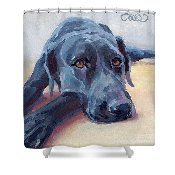 Stretched Shower Curtain