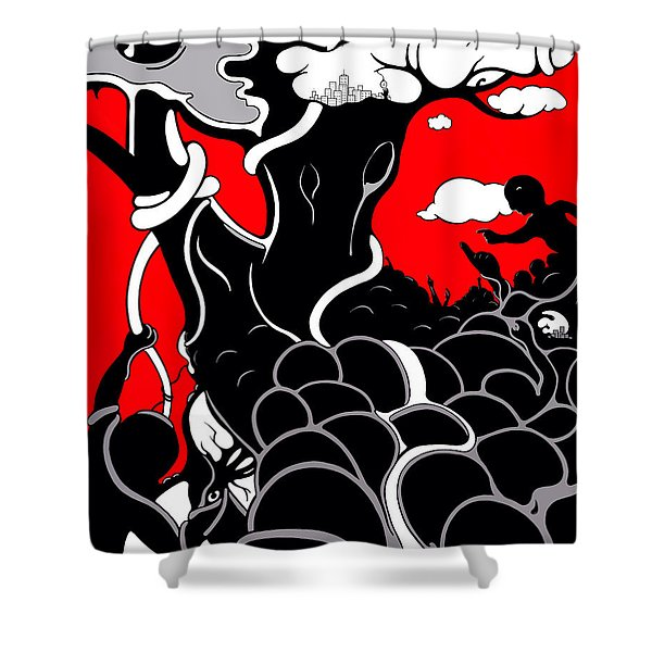 Strife Shower Curtain
