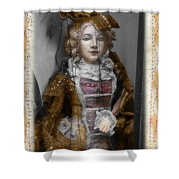 String Lady Shower Curtain